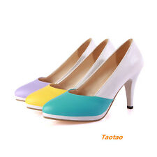 Women'sThin High Heels Wedge Platform Classic Fashion New Shoes AU ALL Size H416