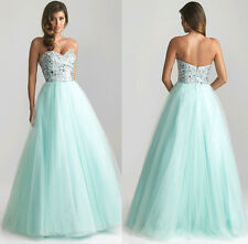 Sexy Women Sleeveless Evening Party Prom Gown Sequins Bridesmaids Long Dress