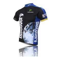 2016 Blue Discovery Cycling Clothing Bike Bicycle Short Sleeve Cycling Jersey