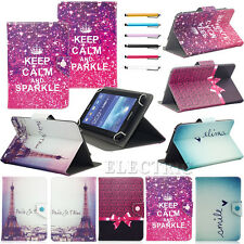 """Various Elegant Universal PU Leather Case Cover Stand For 7"""" 7.9"""" Tablets PC"""