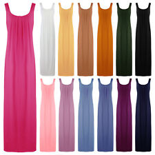 NEW WOMENS NIGHTSHIRT LADIES SLEEVELESS COTTON NIGHTY NIGHTDRESS 18-22
