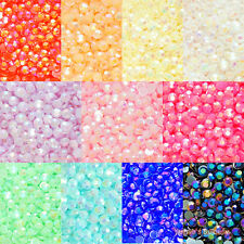 500pcs Mixed (3mm-8mm) Jelly AB Acrylic Flatback Rhinestone Scrapbook Nail Craft
