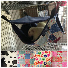 Fluffy Double Lined Two Tier Hammock for Rats Ferrets Chinchilla Gerbil Degu