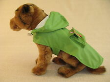 Green Waterproof Puppy Dog Rain Jacket Coat with Hood - 8 Sizes - Small to 5XL