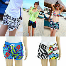 Women Colorful Summer Cool Feel Boardshorts Surfing Swimming Board Beach Shorts