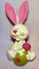 BUNNIES WITH BIRDHOUSE * NEW * 5 INCHES TALL ** PASTEL COLORS ** GREAT GIFT