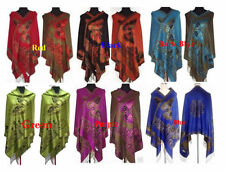 2014 HOT Sale Chinese Lady Double-Side Butterfly Pashmina Scarf Wrap Shawl Cape