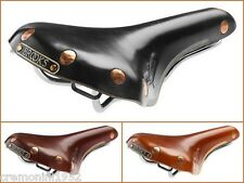BROOKS SWIFT CHROME Sella epoca vera pelle bici Saddle Sport Corsa vintage B360H