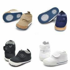 Lovely Baby Boys Cotton Ankle Canvas High Crib Shoes Kid Velcro Sneaker Boots