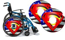 Wheelchair Spoke Guard Skins SUPERMAN Custom Designs Personalised Kids & Adults