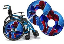 Wheelchair Spoke Guard Skins SPIDERMAN Custom Designs Personalised Kids & Adults
