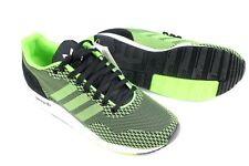 Mens ADIDAS ZX 900 WEAVE Black Green Trainers M19805