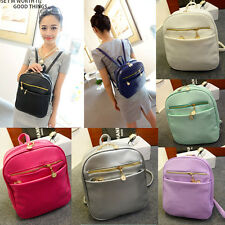 Womens Faux Leather Backpack Purse, Small 8 colors Bookbag Style Evening Case