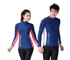 New Blue Scuba Diving Long Sleeve Shirt Swimming Shirt Long sleeve Lycra tops