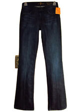 $178 Seven 7 For All Mankind High Waist Bootcut X-Soft Jeans LA Dark w/Crease 24