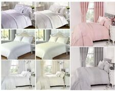 Embroidered White Cream Lace Vintage Duvet Quilt Cover Bed Set Serenity Everdean