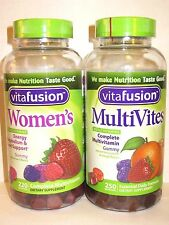 Vitafusion Gummies Women's, MultiVites, Calcium, Power C, Fiber Well