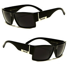 MEN DARK LENS GANGSTER BLACK OG SUNGLASSES LOCS BIKER GLASSES USA