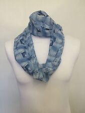 JEAN POCKET INFINITY SCARF JERSEY CHIFFON UNISEX FASHION PRINTED LOOP SCARVES