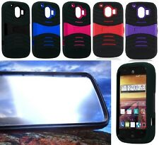 Phone Case with BUILT IN SCREEN PROTECTOR Faceplate For ZTE Compel Z830