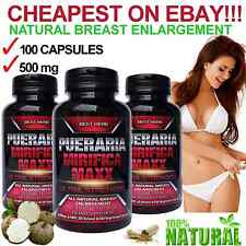 (LOWEST PRICE ON EBAY) PUERARIA MIRIFICA CAPSULE BUST BREAST ENLARGEMENT FIRMING