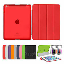 Magnetic Smart Slim Leather Cover Hard Back Case For APPLE iPad Air 2 3 4 Mini