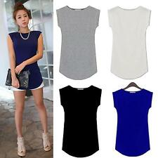 Women Sexy O-Neck Short Sleeve Slim Modal Trend T-shirt Blouse Tops 4 Colors