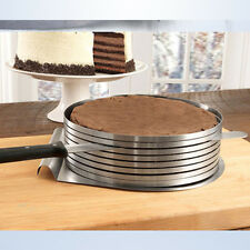 DIY Adjustable Round Stainless Steel Mousse Cake Ring Mold Layer Slicer Cutter