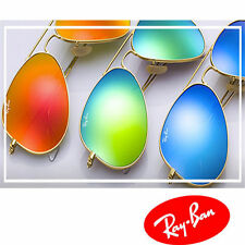 Ray Ban RB3025 Aviator Sunglasses Gold Frame Mirror Lens New 100% Authentic