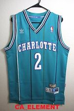 Adidas NBA Charlotte Hornets Larry Johnson Hardwood Classic Swingman Men Jersey