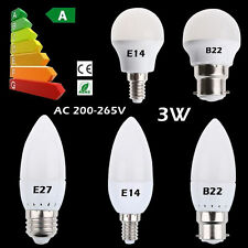 3W E14 E27 B22 LED Globe Bulb 2835 SMD Candle Light Lamp Spotlight Energy Saving