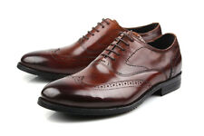 New Men's Shoes Dress Formal Cow Leather Lace up Black Brown J8-5