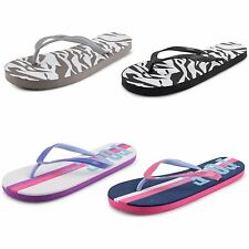 Womens Ladies Flip Flops Flat Toe Post Holiday Summer Beach Sandals Shoes Size