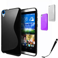 S Curve Gel Jelly Cover Case for HTC Desire 820 + Free SP & Stylus