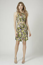 Topshop Jacquard Flower Wrap Skirt RRP £65 Size 8 to 16