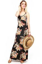 Floral Summer Beach Racerback Resort Dresses Beautiful Sleeveless Long Tank Maxi