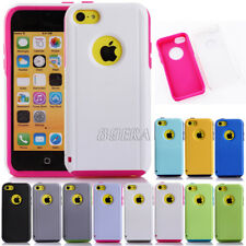 Hybrid Heavy Duty Rugged Soft Tough Combo Commuter Series Case Cover For iPhone