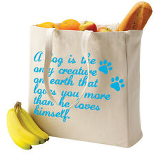 A Dog Loves You More Canvas Shopper, Comfortable Handles  Pet Quote TS928