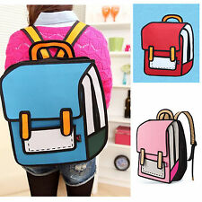 3D Jump Style 2D Drawing From Cartoon Paper Bag 4colors