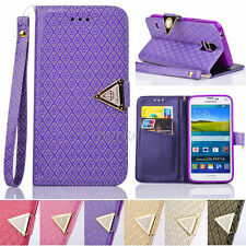 Foil Gold Embossing PU Leather Flip Wallet Case Cover For Samsung Galaxy S Note