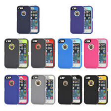 Heavy Duty Hybrid Rugged Armor Case Cover with Belt Clip For Apple iPhone 5 5S