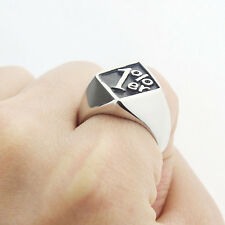 1%er One Percent Outlaw Biker Motorcycle Club Men's Stainless Steel Ring