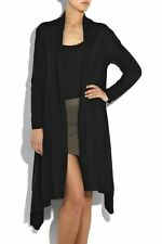 DKNY Donna Karan Cozy Wrap 12 Ways Black Twist It Tie It Long Cashmere Cardigan