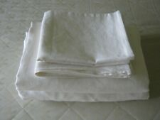 "Linen Sheet Set 4pcs 100% White or Oatmeal Pure Natural  Bedding Pocket 10""-22"""
