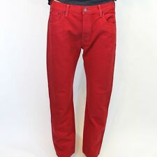 BRAND NEW LEVI'S 501 RED ORIGINAL SHRINK TO FIT STRAIGHT LEG JEANS  501