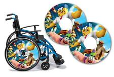 Wheelchair Spoke Guard Skins  Custom Design Personalised Kids & Adult