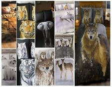Animal Photographic Print Duvet Quilt Cover Bedding Set and Pillowcases New