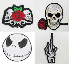 Brand New Punk Rock Fashion Skull Embroidered Applique Iron On Patch For DIY