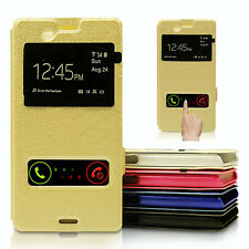 PU Leather Window Case Cover For Samsung Galaxy Grand 2 S5 mini G530H Neo Duos