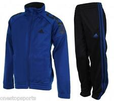 adidas boys blue zip up tracksuit. Jogging suit. Warm up suit. Various sizes!